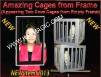 Amazing Cages from Frame (Two Dove Cages from Empty Frame)  <img border=&quot;0&quot; src=&quot;http://kapmagic.com/products_pictures/FREEshippingw5w.gif&quot; width=&quot;175&quot; height=&quot;50&quot;></p>