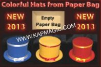 Colorful Hats from Paper Bag (NEW)  <img border=&quot;0&quot; src=&quot;http://kapmagic.com/products_pictures/FREEshippingw5w.gif&quot; width=&quot;175&quot; height=&quot;50&quot;></p>